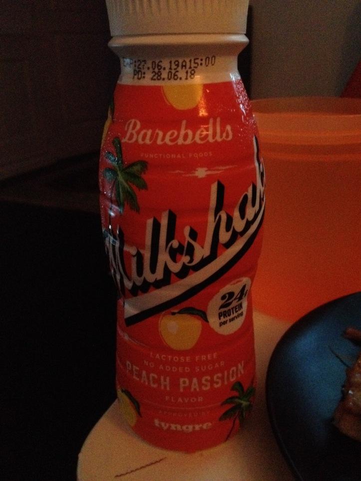 Barebells Milkshake Peach Passion.JPG