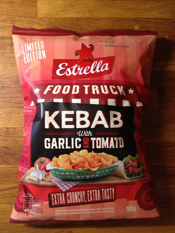 Estrella Food Truck Kebab with Garlic and Tomato