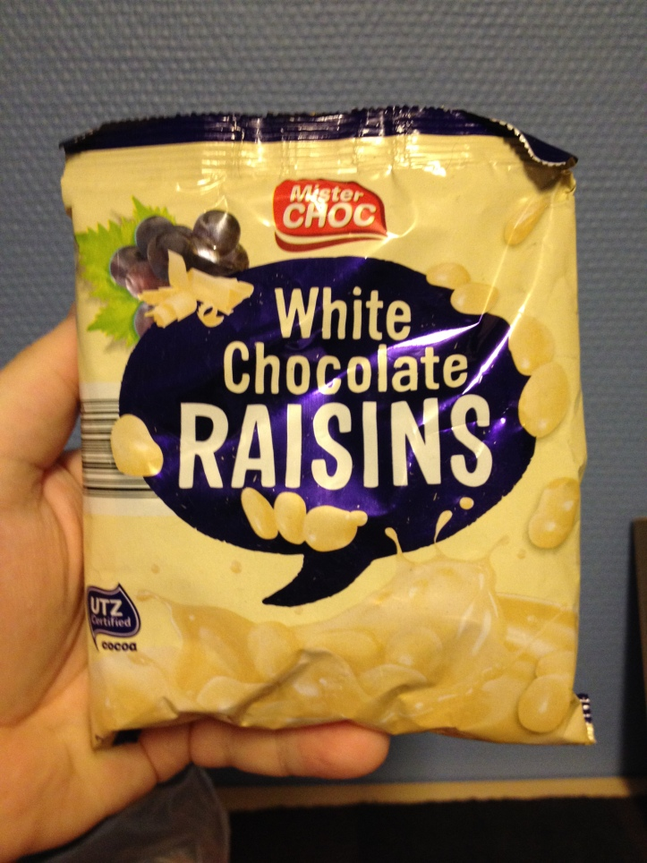 Mister Choc White Chocolate Raisins